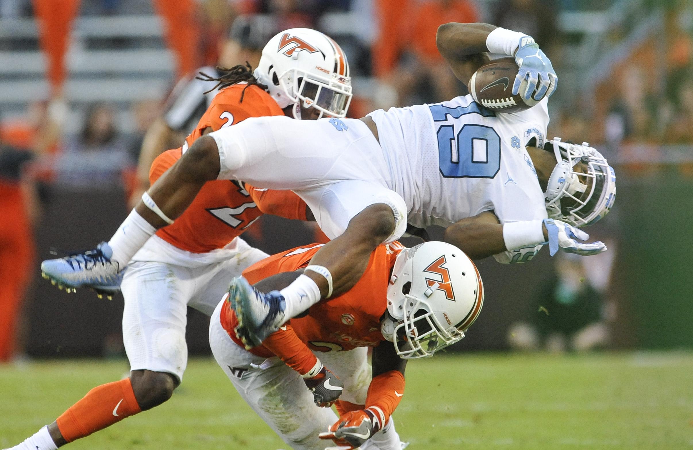 UNC Football: Helmet stickers vs Virginia Tech Hokies